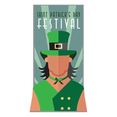 patrick's: saint patricks day festival poster Illustration