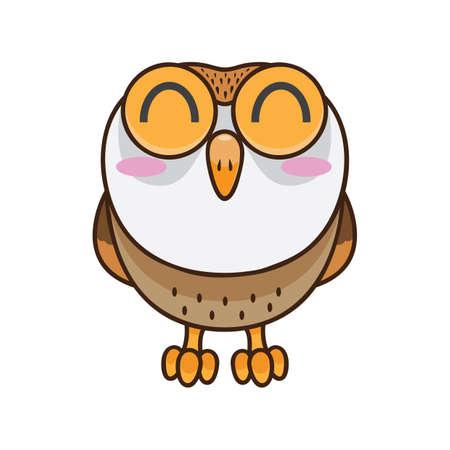 blushing: blushing owl Illustration