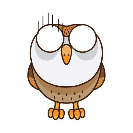 fear: owl in fear