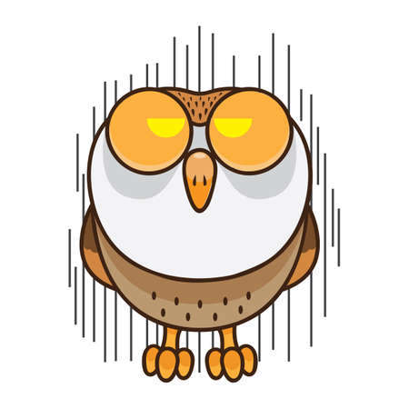 threatening: owl with threatening expression Illustration