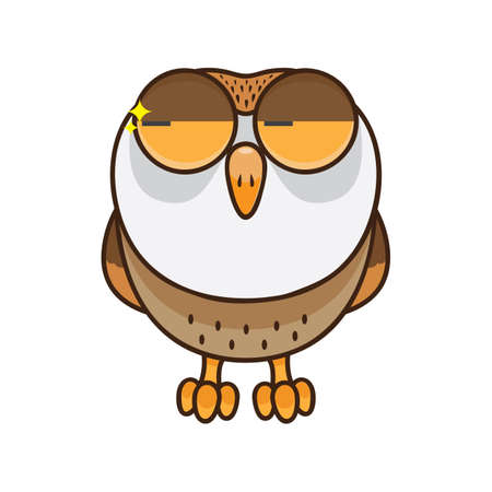 glancing: owl glancing Illustration