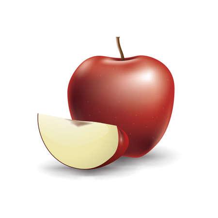 apple slice: apple with slice