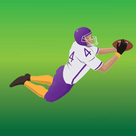 scoring: american football player scoring touchdown