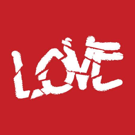 word: word love Illustration