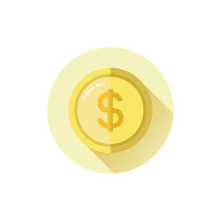 valuables: dollar coin Illustration