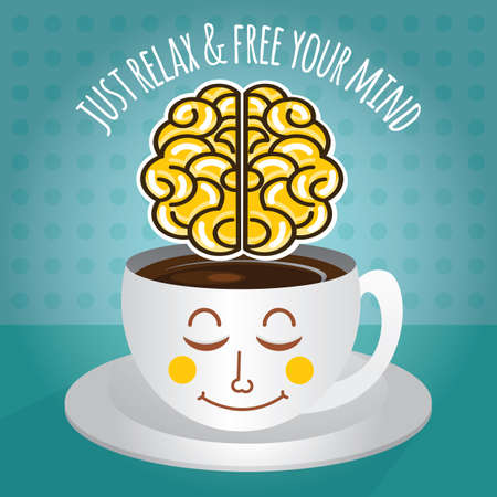 just: just relax and free your mind Illustration