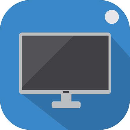 led: led monitor tag Illustration