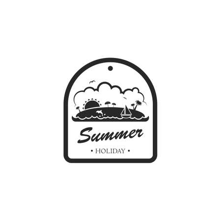 summer holiday: summer holiday label