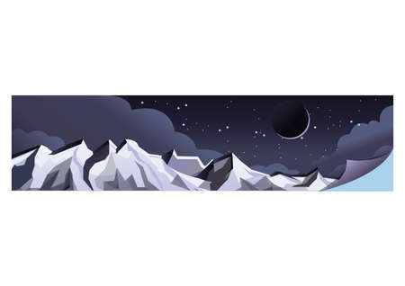 night view: mountains against night sky