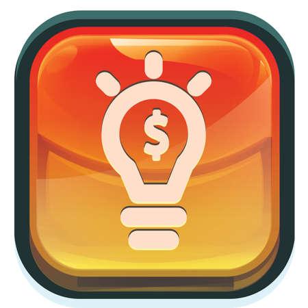 halogen: bulb with dollar symbol