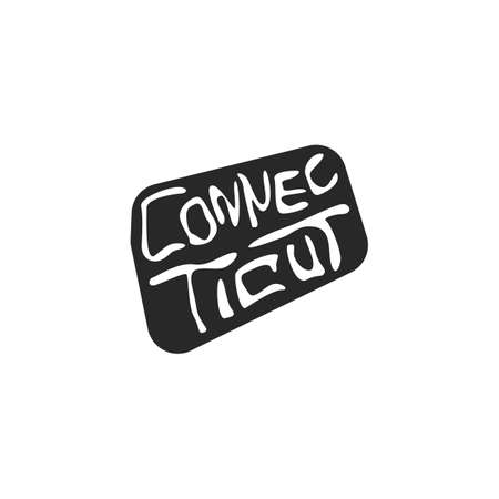 connecticut: connecticut state map Illustration