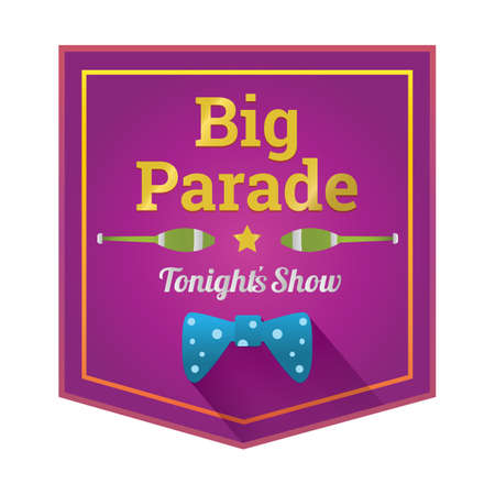 parade: big parade label Illustration
