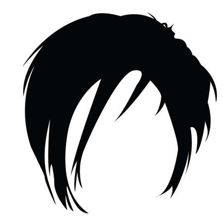 hair style: modern man hair style Illustration