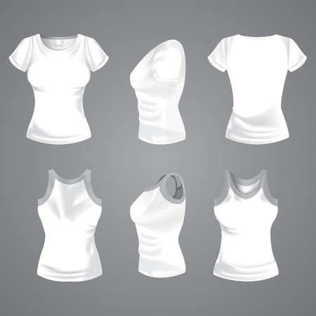 woman's clothing: womans t-shirt Illustration