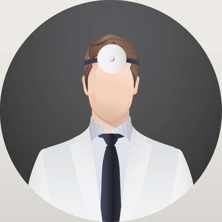headlamp: dentist Illustration