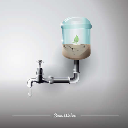 water concept: save water