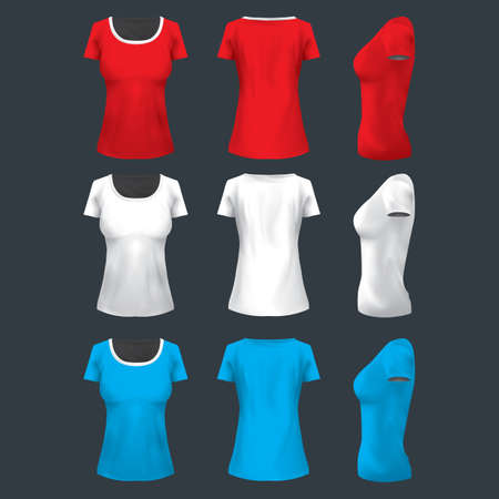 womans clothing: womans t-shirt Illustration
