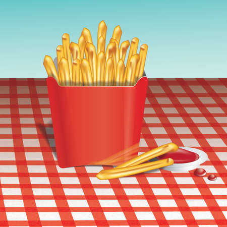 deep fried: french fries with sauce