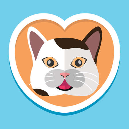 sticking out tongue: gato sacar la lengua Vectores