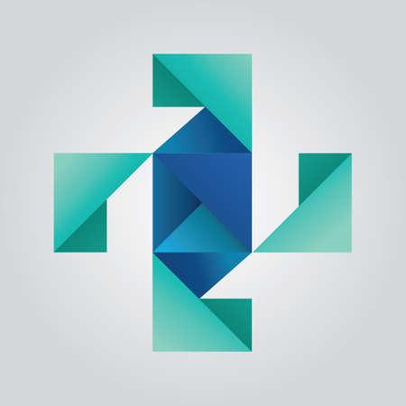abstract cross Vector Illustration
