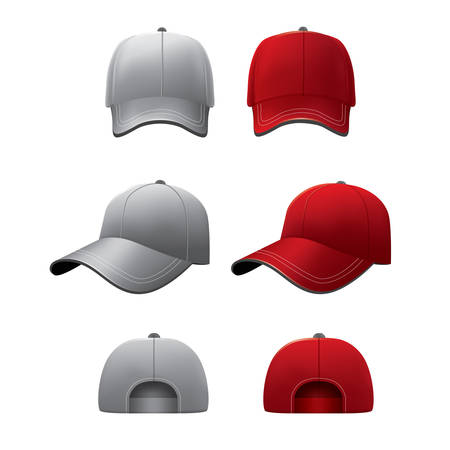 hat with visor: sports cap Illustration