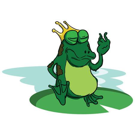wearing: frog wearing crown