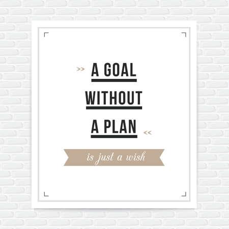 ambitions: motivational quote Illustration