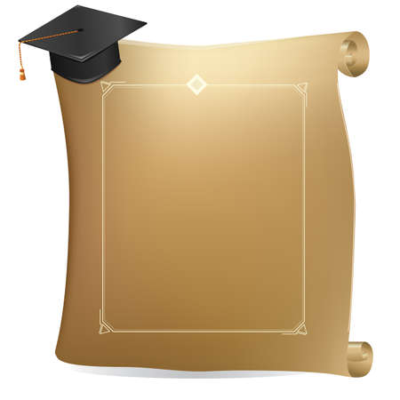 scrool: graduation scroll Illustration