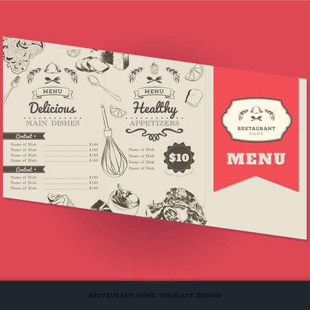 appetizers: restaurant menu template design