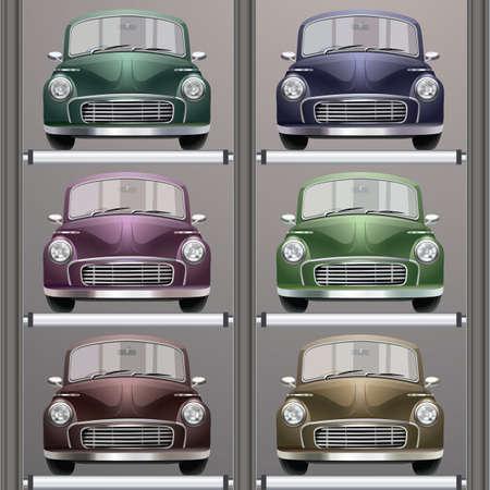 four wheeler: set of cars