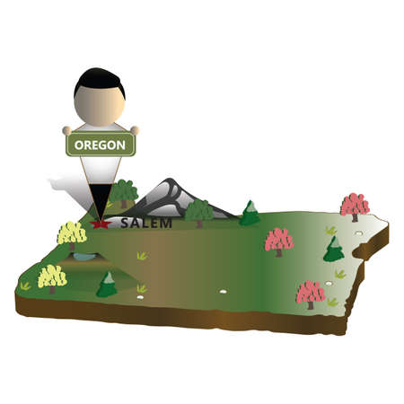 state of oregon: oregon state map