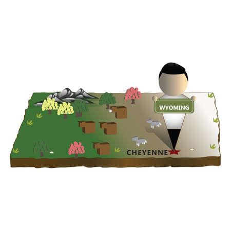 cheyenne: wyoming state map