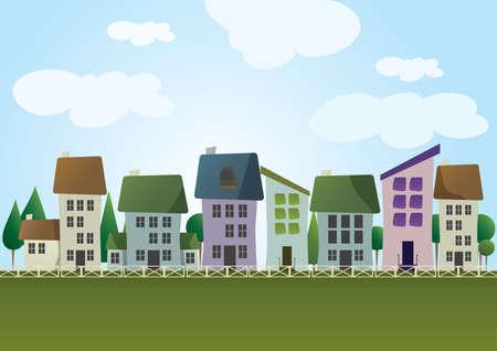 住宅住宅  イラスト・ベクター素材