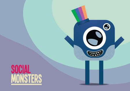 one eyed: social monster