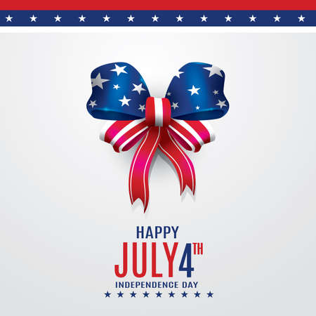 4th: 4th of july independence day poster Illustration