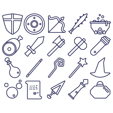 spiked: set of fantasy icons