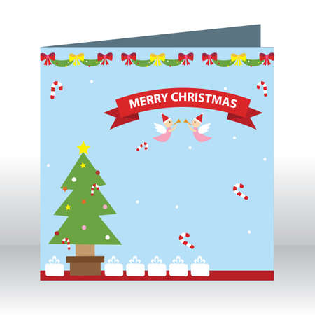 x mas card: merry christmas greeting card Illustration