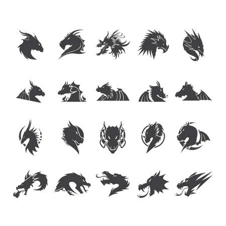 collection of dragons Illustration