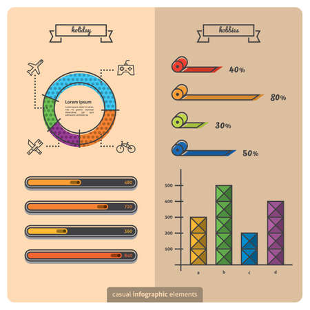 hobbies: infographic of holiday and hobbies Illustration
