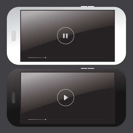 video player: smartphone video player interface