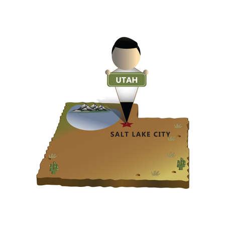 utah: utah state map