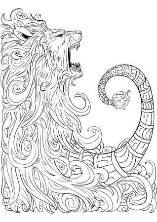 sketch: lion sketch Illustration