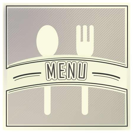 eatery: restaurant menu design Illustration