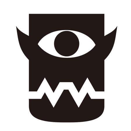one eyed: one eyed monster Illustration
