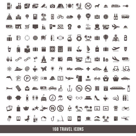 swimming candles: travel icon set