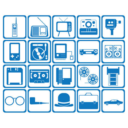 mobilephones: retro icons Illustration