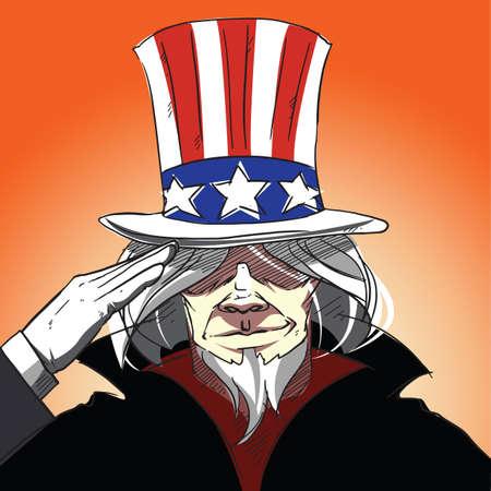 saluting: uncle sam saluting poster