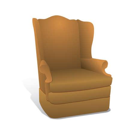single seat: single-seated sofa Illustration