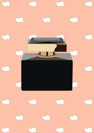scented: perfume bottle Illustration