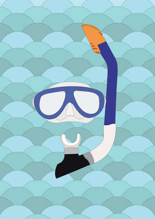 snorkel: diving mask and snorkel